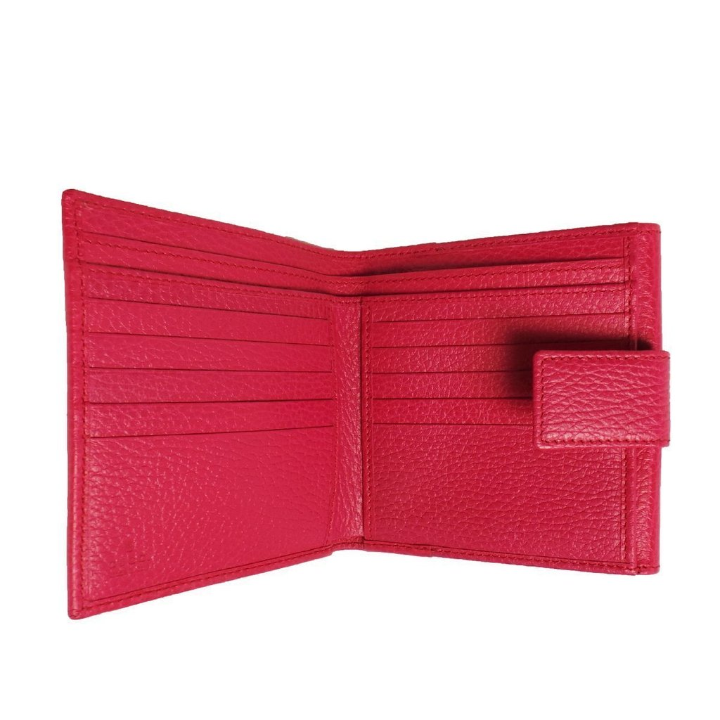 ad6957a49 Gucci Women's Classic Swing Blossom Leather Pink Flap Wallet Small 368233