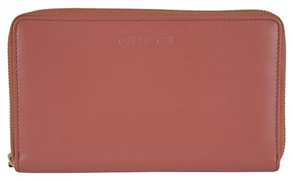d4fe54a5c0819 Gucci Women s Large Salmon Soft Calf Leather Zip Around Travel ...